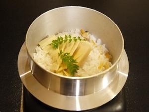 アサリと筍の釜飯