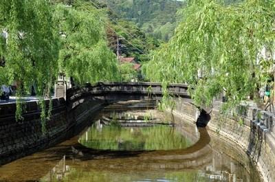 温泉街の風景(これぞ、ザ・城崎温泉!)